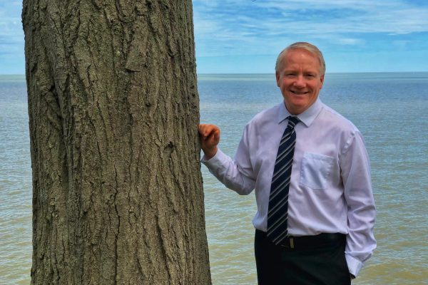 Pastor Ray at Lake Erie